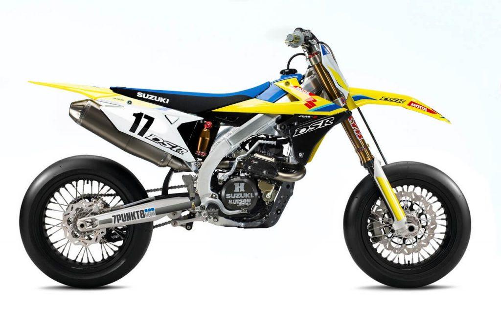 Photoshop macht es möglich: Suzuki RM-Z 450 im Supermoto Look.