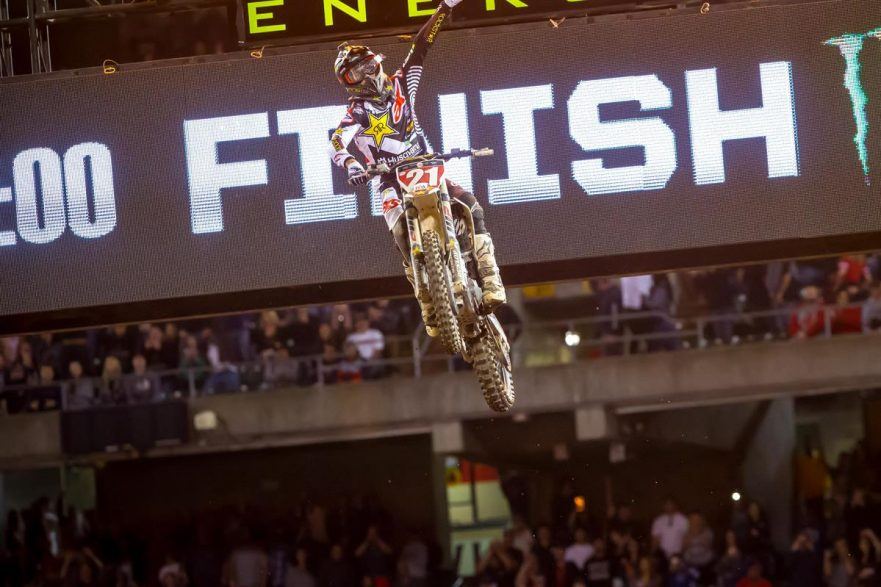Jason Anderson beim Supercross 2018 in Oakland